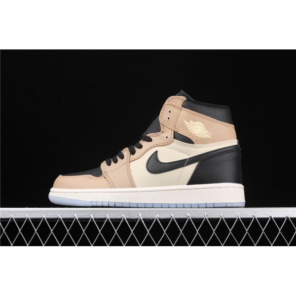 Nike Air Jordan 1 Classic High Black Khaki Shoe