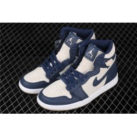 Nike Air Jordan 1 High Retro Premium Deep Blue Shoe
