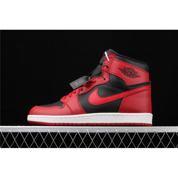 Men's Nike Air Jordan 1 High 85 Black Red Shoe