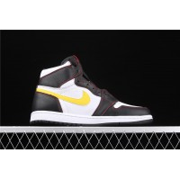 Men's Nike Air Jordan 1 High Dynamic Yellow Logo Shoe