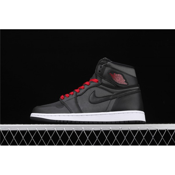 Men's Nike Air Jordan 1 High OG Black Satin Shoe
