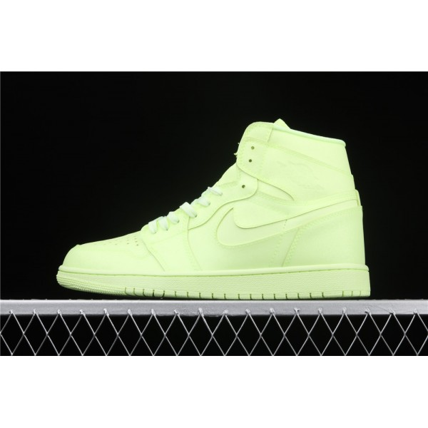 Men's Nike Air Jordan 1 High Premium Fluorescent Shoe