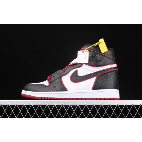 Men's Nike Air Jordan 1 RETRO High OG Black Red Fly Logo Shoe