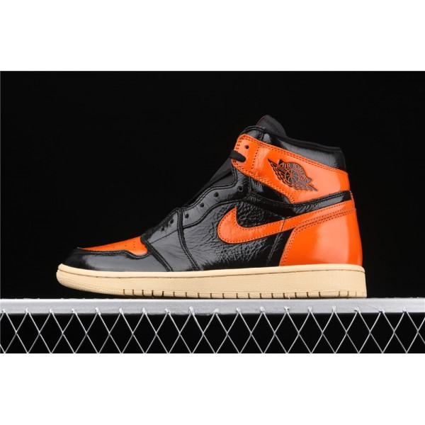 Men's Nike Air Jordan 1 Retro High OG Orange Black Shoe