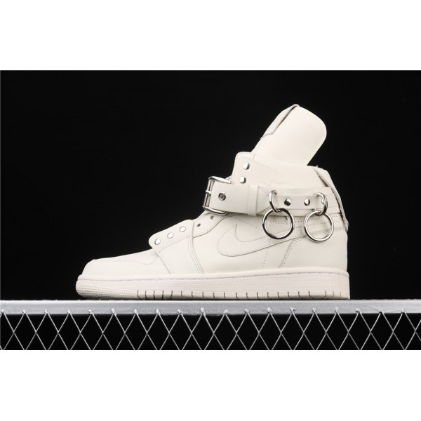 Men's Comme Des Garcons Plus x Nike Air Jordan 1 High CDG White Shoe