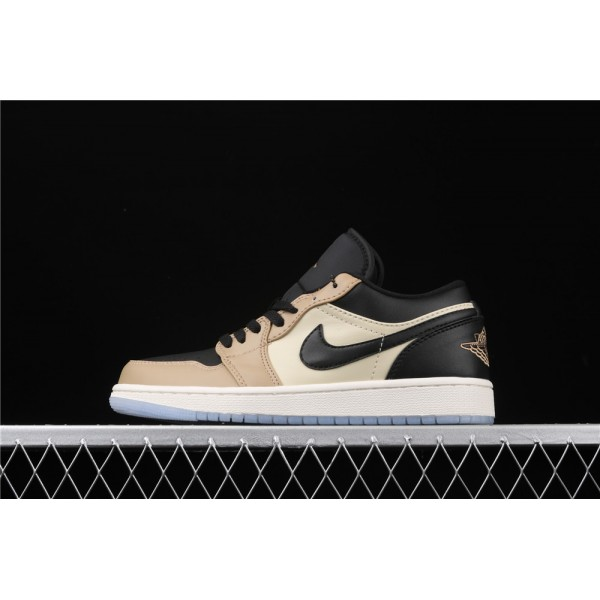 Nike Air Jordan 1 Low Black Khaki Shoe