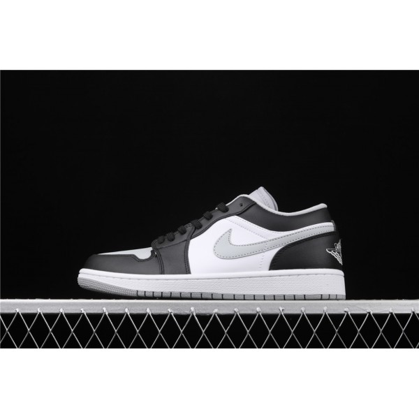 Nike Air Jordan 1 Low Shadow Black White Gray Logo Shoe