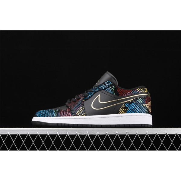 Nike Air Jordan 1 Low Shadow Colorful Snakeskin Shoe