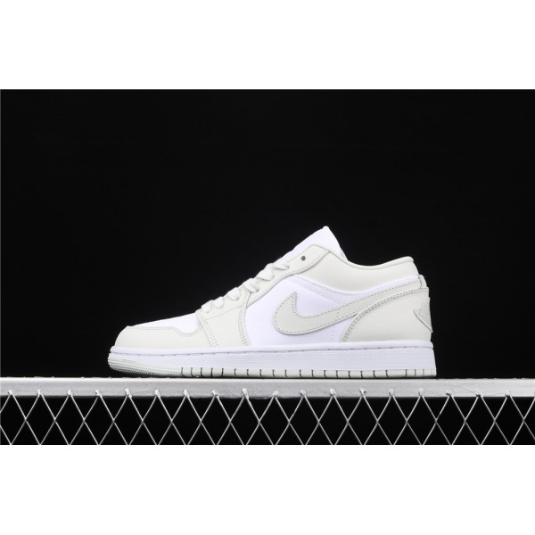 Nike Air Jordan 1 Low Spruce Aura White Shoe