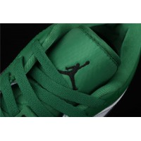 Nike Air Jordan 1 Low White Green Black Logo Shoe