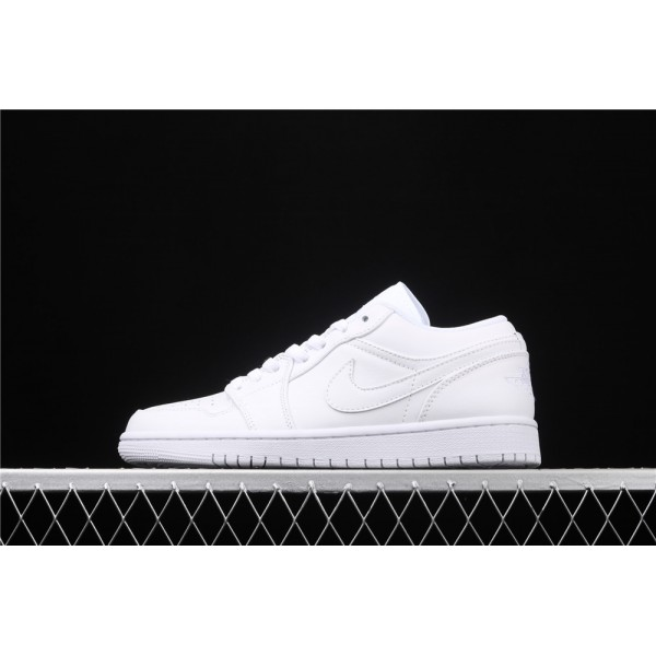 Men's Nike Air Jordan 1 Low Full White Shoe