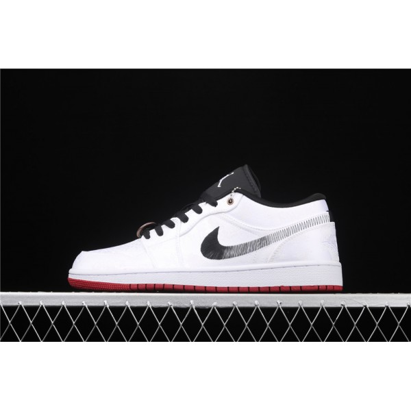 Men's CLOT x Nike Air Jordan 1 Low Fearless White Shoe