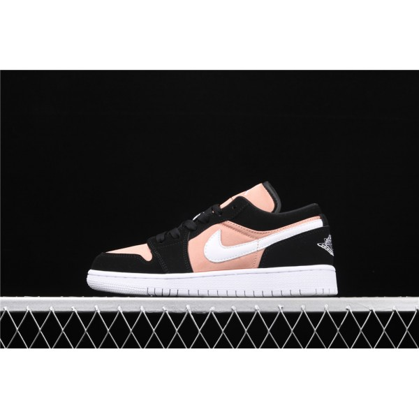 Women's Nike Air Jordan 1 Low Black Pink Shoe