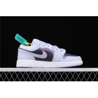 Women's Nike Air Jordan 1 Low Electric Purple White Shoe