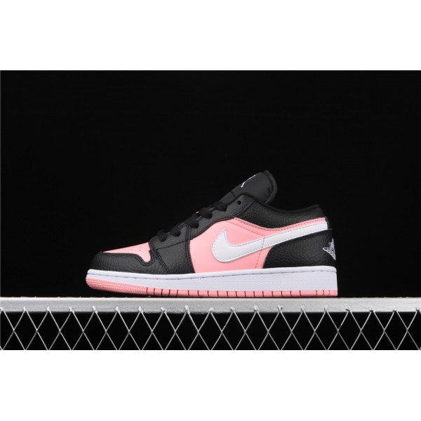Women's Nike Air Jordan 1 Low Pink Black Shoe
