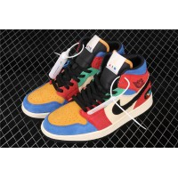 Blue The Great x Nike Air Jordan 1 Mid In Colorful Shoe