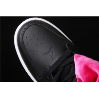 CLOT x Nike Air Jordan 1 Mid Fearless In Black Rose Red Bowknot Shoe