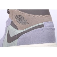 Men's Nike Air Jordan 1 Mid In Gray Brown Shoe