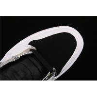 Men's Nike Air Jordan 1 Mid In White Silver Black Shoe