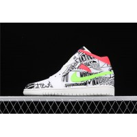 Men's Nike Air Jordan 1 Mid SE Culture In White Black Shoe