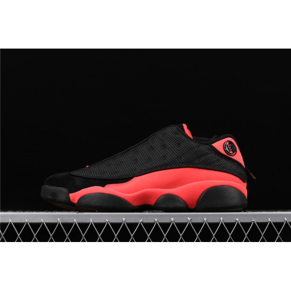 Clot x Nike Air Jordan 13 Low Infra Bred In Red Black Shoe