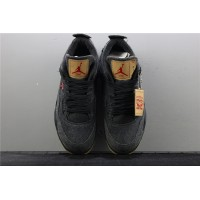 Levis x Nike Air Jordan 4 In Black Shoe