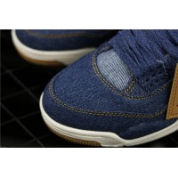 Levis x Nike Air Jordan 4 In Blue Shoe