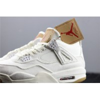 Levis x Nike Air Jordan 4 In White Shoe