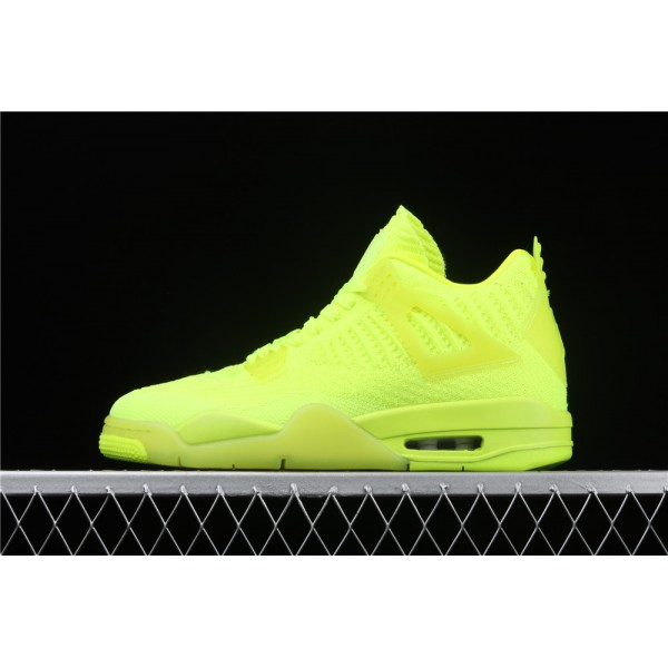 Men's Nike Air Jordan 4 Flyknit In Fluorescent Green Shoe