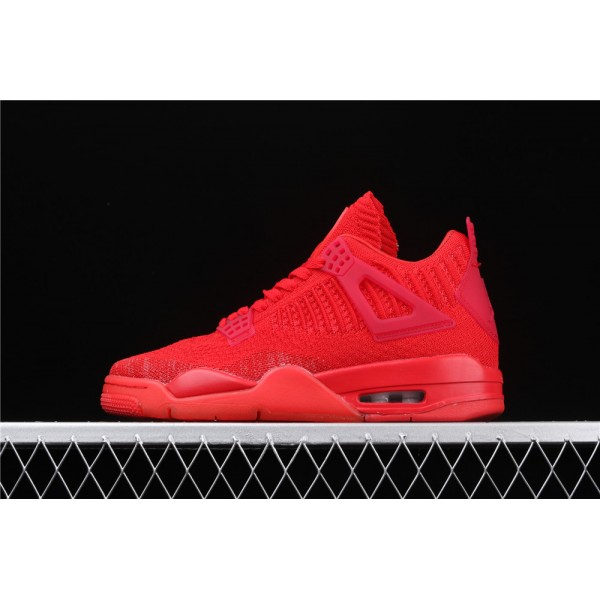 Men's Nike Air Jordan 4 Flyknit In Light Red Shoe
