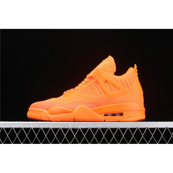 Men's Nike Air Jordan 4 Flyknit In Orange Shoe