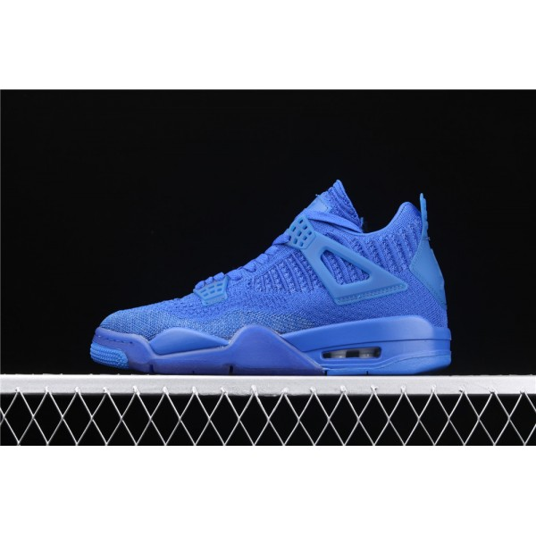Men's Nike Air Jordan 4 Flyknit In Sea Blue Shoe