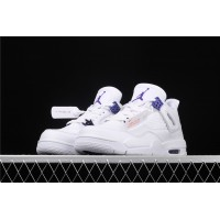 Men's Nike Air Jordan 4 In White Court Purple Shoe