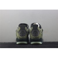 Men's Nike Air Jordan 4 Retro Embroidery In Army Green Shoe