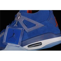 Men's Nike Air Jordan 4 Retro Flight In Blue Shoe