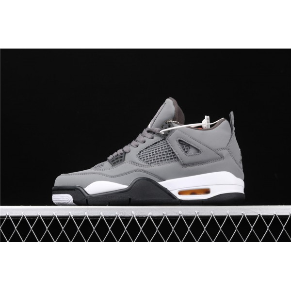 Men's Nike Air Jordan 4 Retro Flight In Cool Grey Shoe