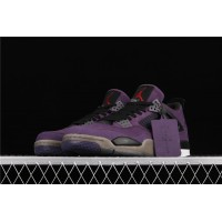 Men's Nike Air Jordan 4 Retro Flight In Purple Shoe