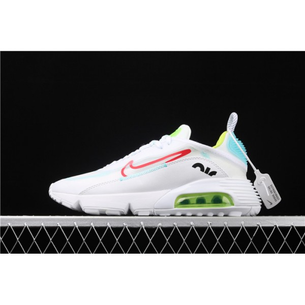 Men/Women Nike Air Max 2090 CT7695 106 red logo