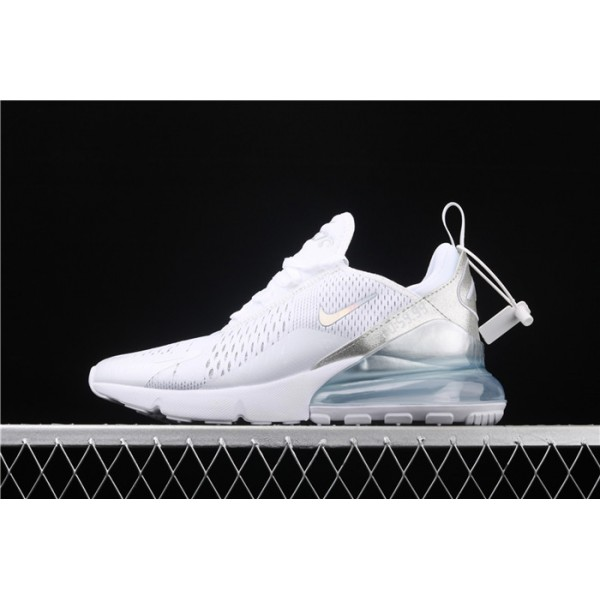 Men/Women Nike Air Max 270 3M CD8497 100 white silver
