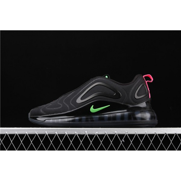 Men/Women Nike Air Max 720 Black Green CQ4614 001 black