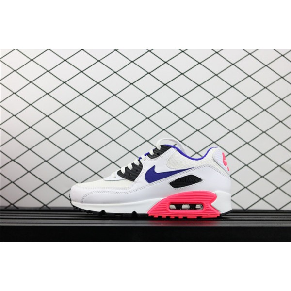 Men/Women Nike Air Max 90 Essential 537384 136 white purple
