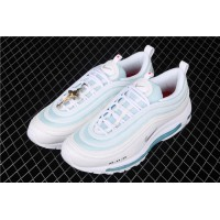 Men/Women Mschf x Inri Air Max 97 Jesus Shoes white geyser blue