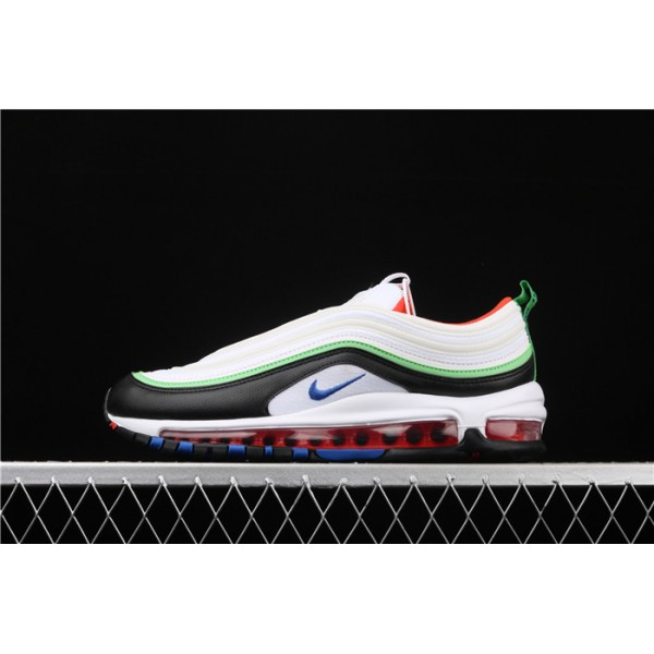 Men/Women Nike Air Max 97 921522 105 black white green