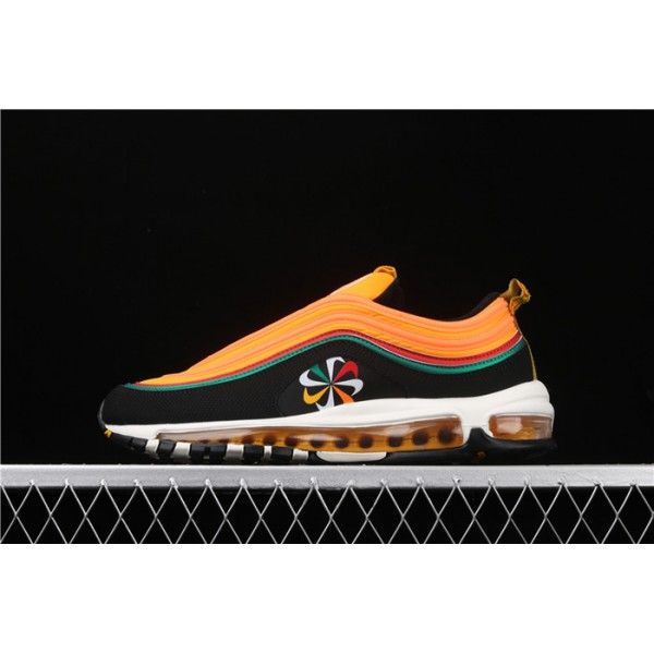 Men/Women Nike Air Max 97 CK9399 001 orange black