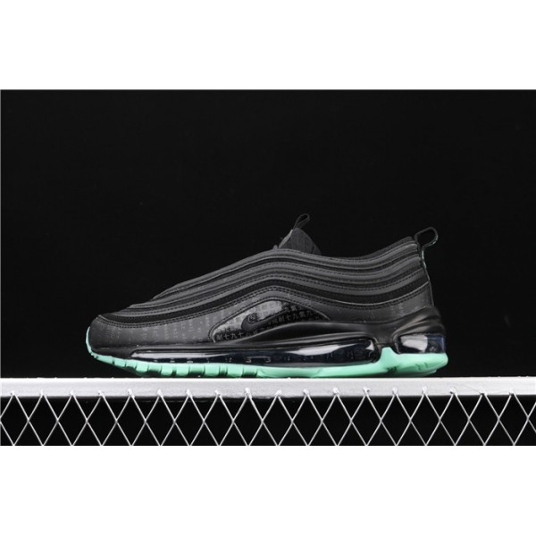 Men/Women Nike Air Max 97 GLOW 921826 017 black